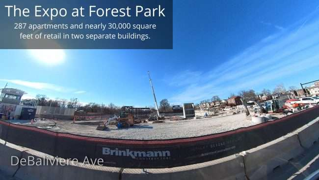 The Expo at Forest Park St. Louis Construction Site in January 2021. credit craig currie