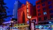 The Fox Theater building at night in the Grand Center Arts District in St. Louis. credit craig currie