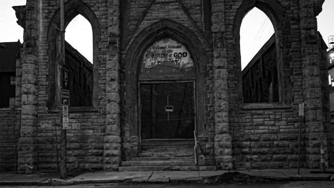 Abandon Church in the Grand Center neighborhood in St. Louis Feb. 2021. credit craig currie