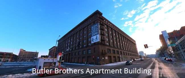 Butler Brothers Apartment Building Downtown St. Louis in Feb. of 2021. credit craig currie