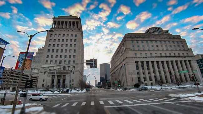 Civil Courts Building downtown St. Louis March 2021. credit craig currie