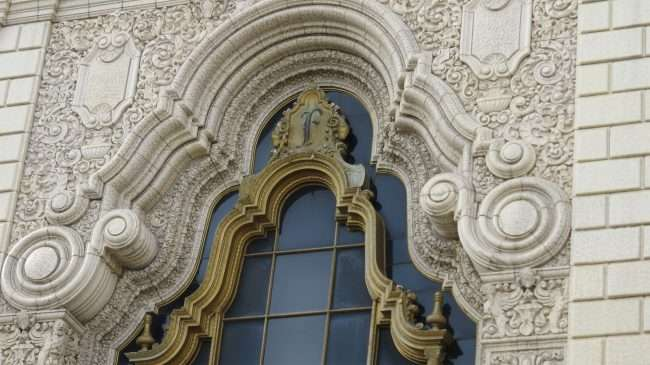 Decorative Architecture on Fox Theatre building on Feb. 2021. credit craig currie
