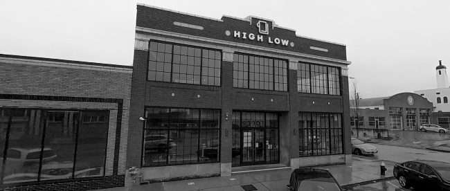 High Low building at 3301 Washington Ave. in Grand Center, St. Louis in Feb. of 2021. credit craig currie