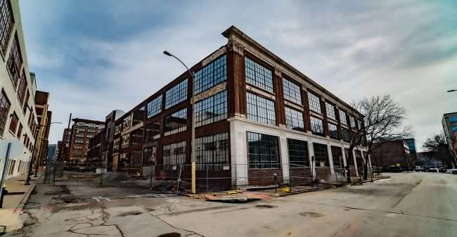Lofts at the Hupp St. Louis under construction Feb. 2021. credit craig currie