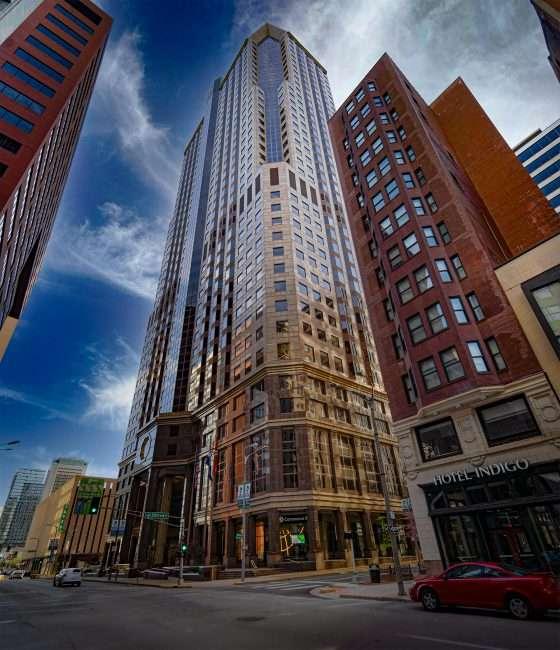 One Metropolitan Square Downtown St. Louis. April 2021 credit craig currie