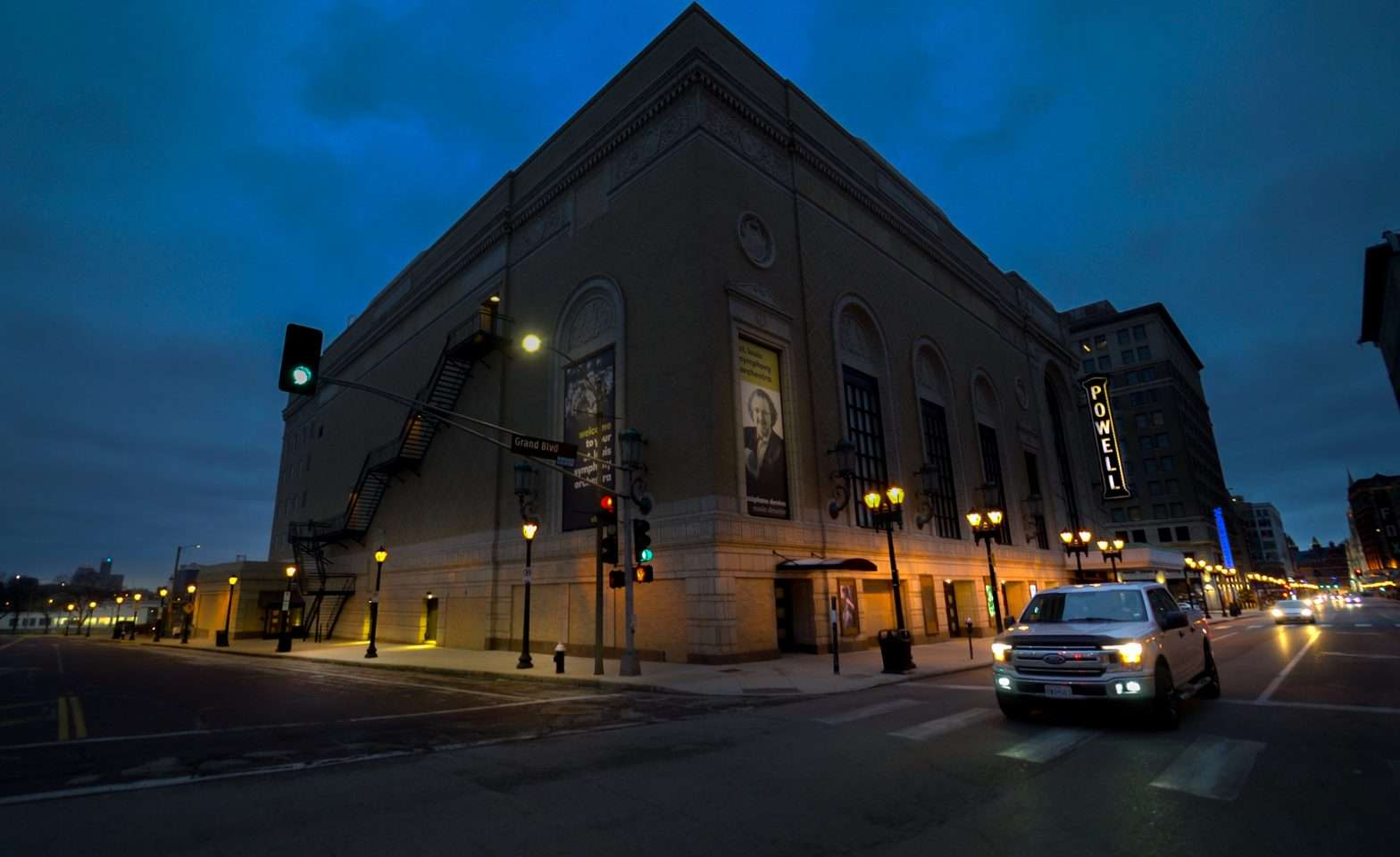 Powell Hall SLSO building is said to be haunted Feb. 2021. credit craig currie