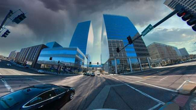 Clayco builds Centene Plaza Hanley and Forsyth. credit craig currie March 2021