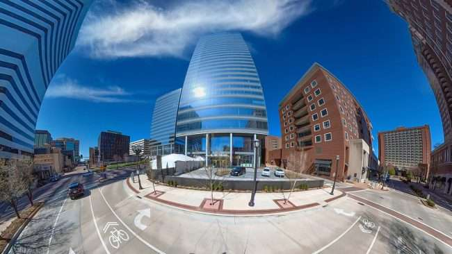 Clayco builds Centene Plaza at Hanley and Forsyth. credit craig currie March 2021