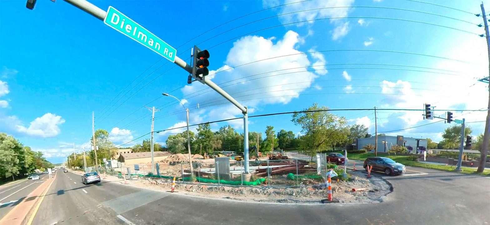 Firestone Olivette MO. under construction August 2021. credit craig currie