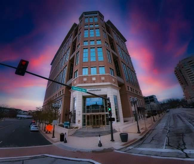 Rubin Brown Accounting building in Clayton at the intersection of Brentwood and Forsyth. credit craig currie March 2021