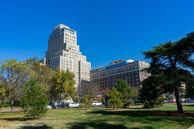 Chase Park Plaza from Forest Park Forever in St. Louis. credit craig currie