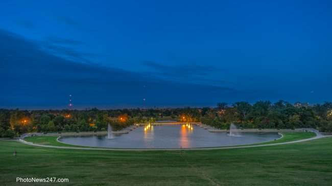 Art Hill and Emerson Grand Basin in Forest Park St Louis, MO. credit craig currie