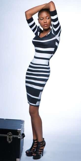 Bri Aaudrey St Louis Model wears 5 inch heels. credit craig currie