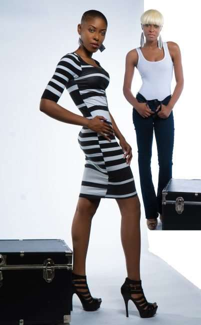 Bri Aaudrey T. wearing form fitting one-piece dress. credit craig currie