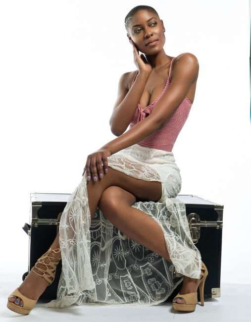 Bri Aaudrey T. St Louis Model wearing shear dress. credit craig currie