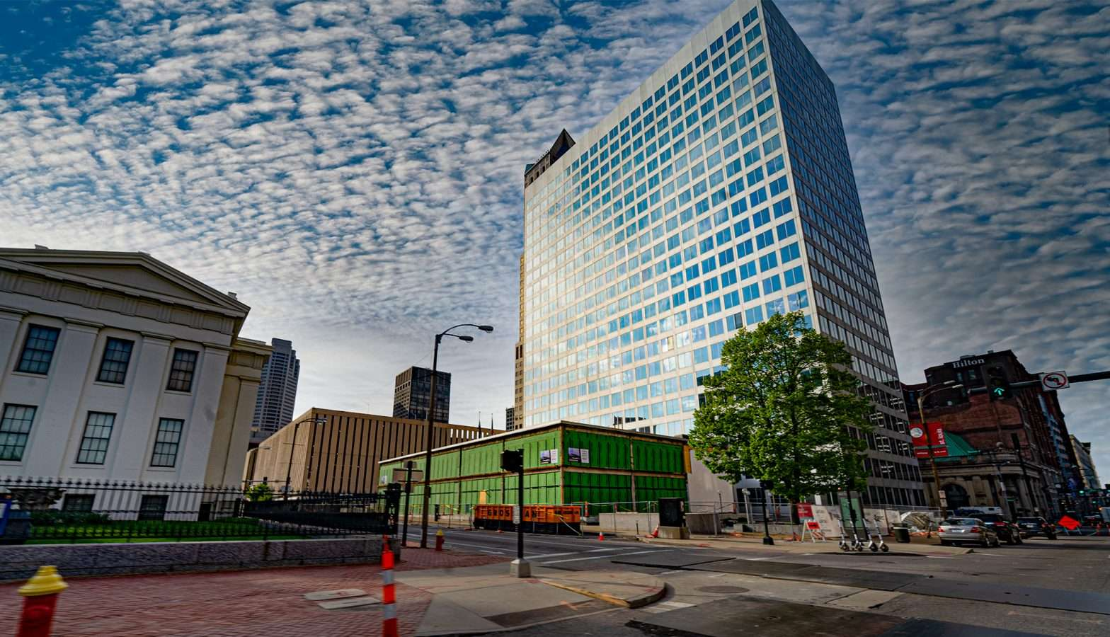 Broadway Tower 100 N. Broadway in St. Louis is under construction in April 2021. credit craig currie