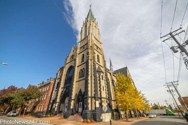 Church on corner in Soulard neighborhood in St. Louis in Vov. 2019. credit craig currie