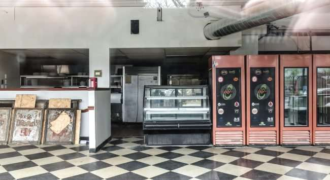 Cicero's restaurant signs, old refrigerators and stoves still sit inside the old eatery at Delmar and Kingsland in The Delmar Loop on April 2021. credit craig currie
