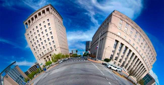 Civil Courts Building in Downtown St. Louis. April 2021 by craig currie