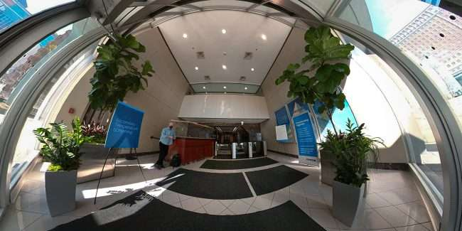 Entrance at Centen Place at 107.3 Classic Radio in Clayton. March 2021 Craig Currie
