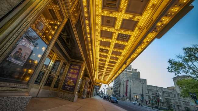 Fabulous Fox Theater front entrance under marquee. credit craig currie
