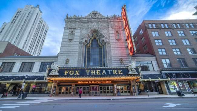 Fox Theater front entrance Grand Center Arts District St Louis