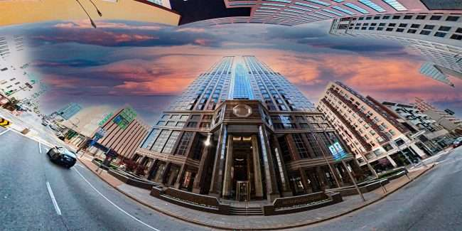 Metropolitan Square building in downtown St. Louis. April 2021 credit craig currie