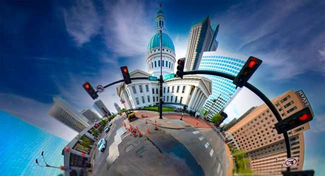 Old Courthouse renovations downtown St. Louis. April 2021 by craig currie