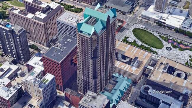 One Metropolitan Square St Louis. credit Google Earth