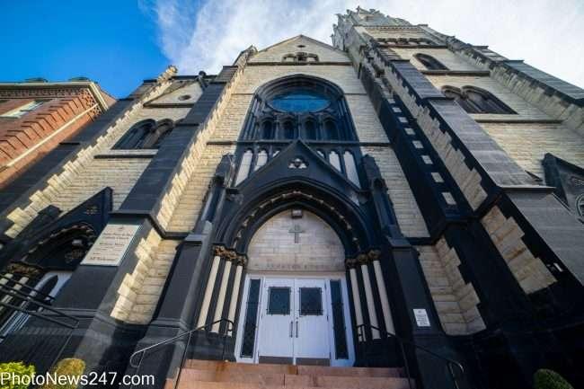 Saint Peter and Paul Catholic Church in Soulard neighborhood in St. Louis in November of 2019. credit craig currie
