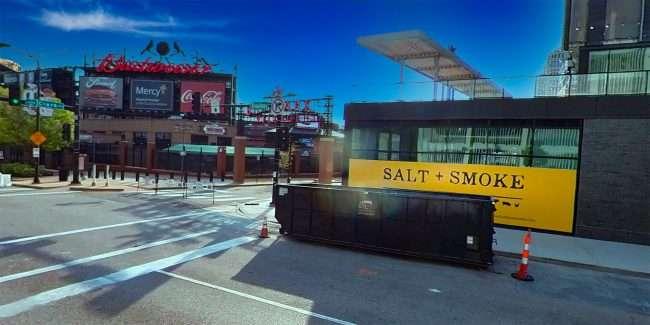 Salt + Smoke downtown St. Louis Ballpark Village. April 2021 by craig currie