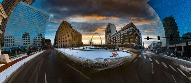 St Louis Gateway Arch. March 2021 by craig currie