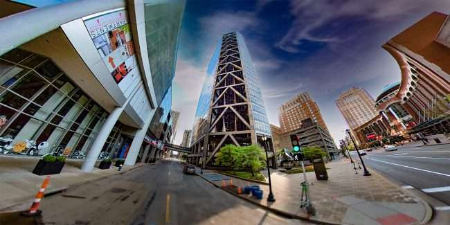US Bank Plaza building in Downtown St. Louis. April 2021 by craig currie