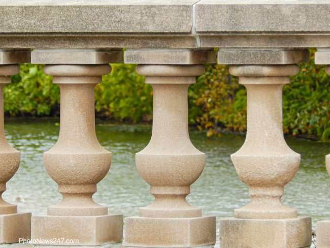 Bridge pillars at Forest Park Forever. credit craig currie 2019