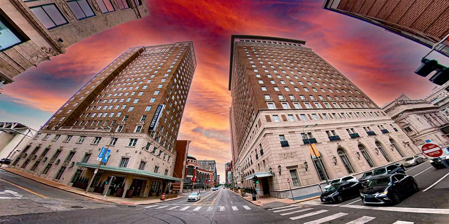Courtyard Hotel in Downtown St. Louis. May 2021 by craig currie
