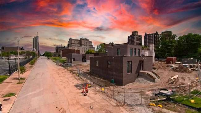 Emily Pulitzer Housing Development Olive Grand Center. April 2021 by craig currie