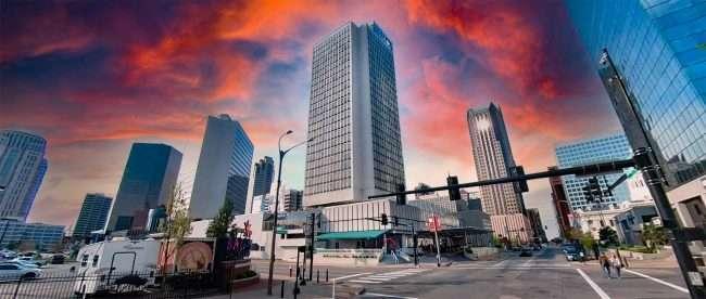 Hilton St. Louis at the Ballpark Village. April 2021 by craig currie