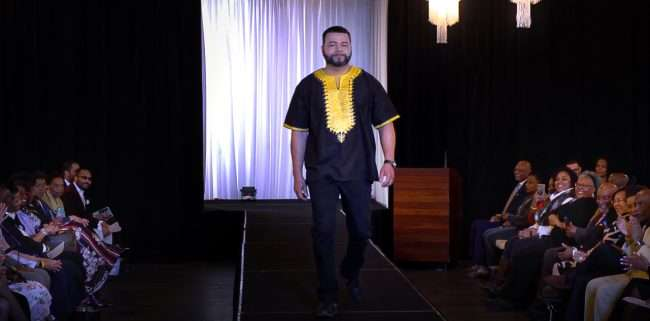 Male Model at Alpha Kappa Alpha Fashion Show, March 2020 by craig currie