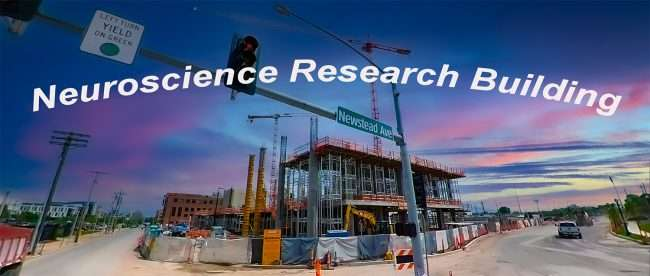 Neuroscience Research Building WashU Construction Newstead, May 2021 by craig currie