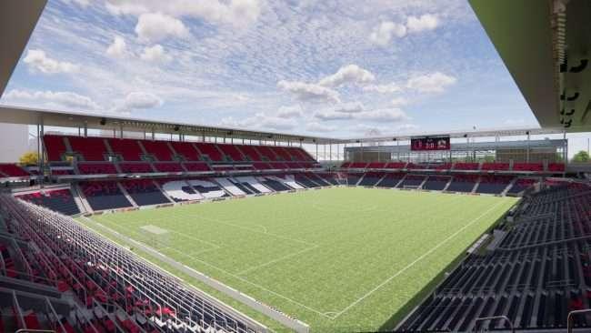 St Louis City Soccer Stadium rendering