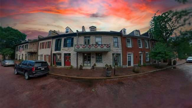 Historic buildings on Historic Main Street in St. Charles MO. credit craig currie