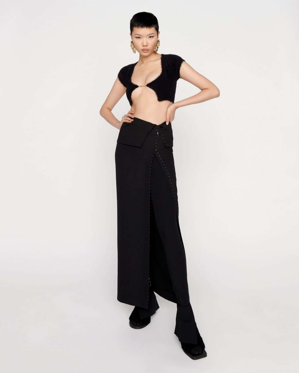 Cropped cardigan by Jacquemus. credit Jacquemus