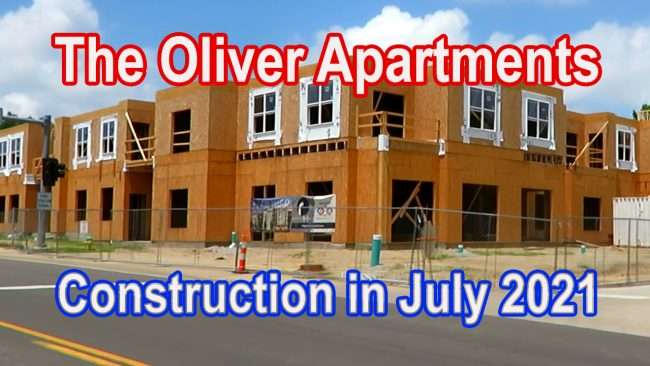 THE OLIVER Apartments Construction July 2021. credit craig currie