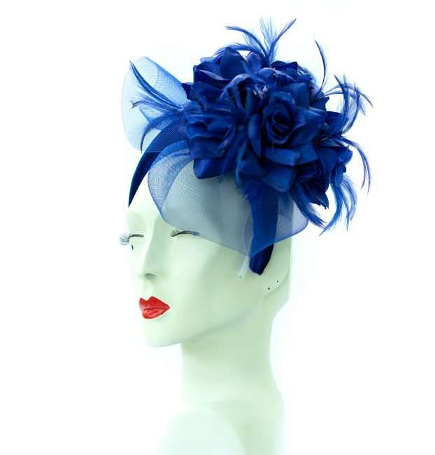 Kentucky Derby Hat Blue Fascinator Blue Vail by Hats by Dianne. credit craig currie