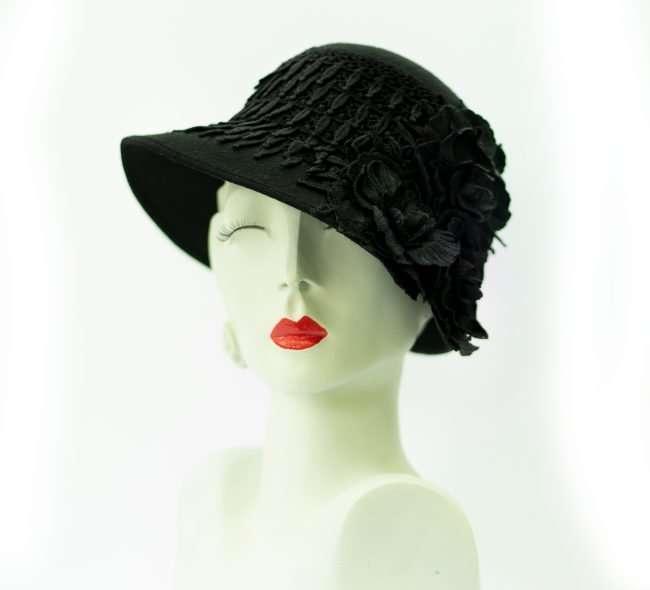 Ladies Black Winter Hat. Hats by Dianne. credit craig currie