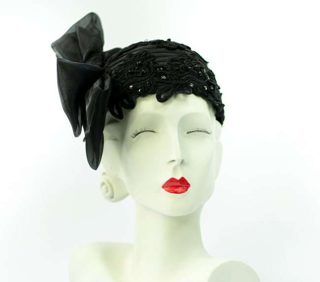 Flapper Hat with sequence and rhinestone Hats by Dianne. credit craig currie