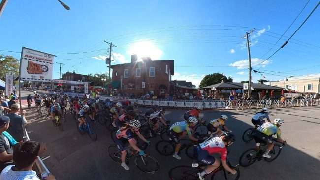 Gateway Cup Women's Pro bike race in The Hill neighborhood in St. Louis, MO. credit craig currie