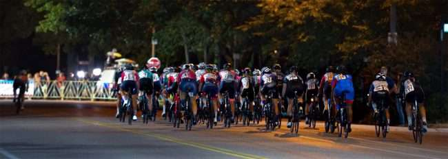 Gateway Cup women's pros begin race from starting line for bicycle race in Lafayette Park, Tour de Lafayette. credit craig currie