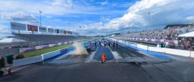 Smoke from Burnout at World Wide Technology Raceway in Madison, IL. credit craig currie